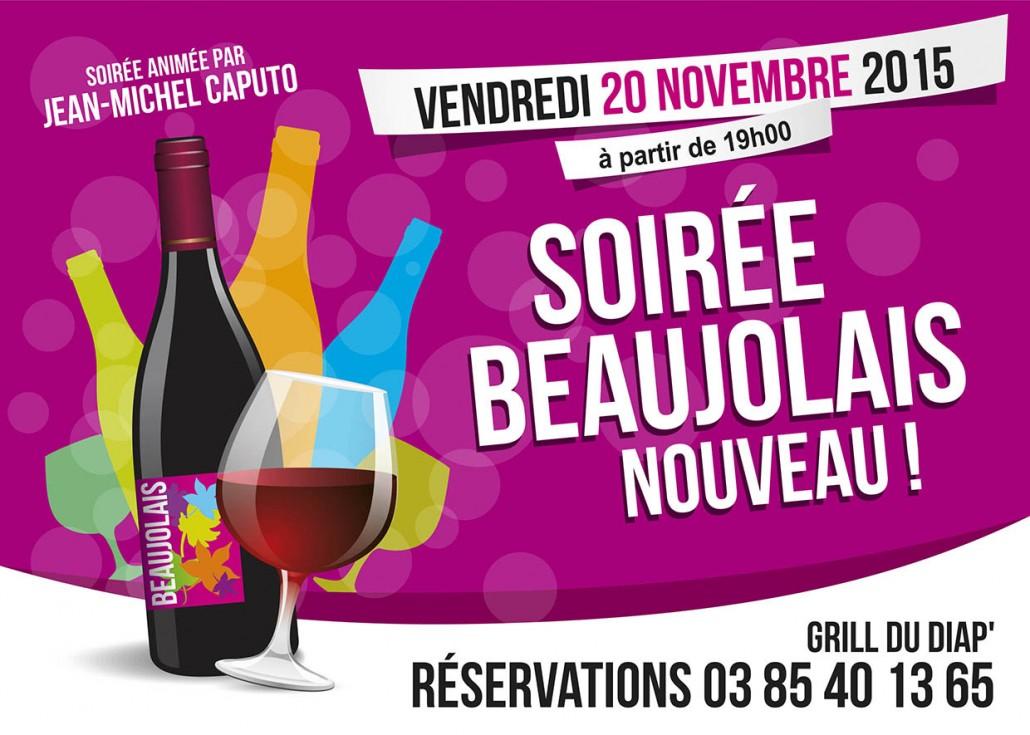 Affiche / flyer Beaujolais Nouveau 2014